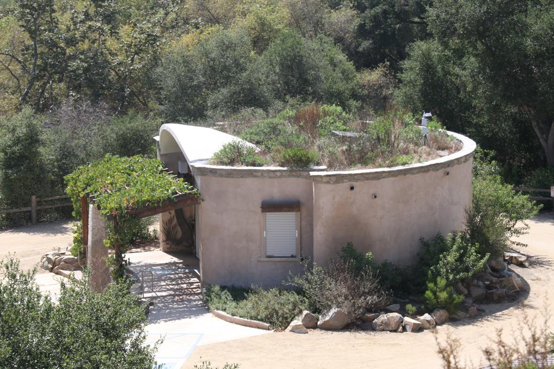 Green roof at Elfin Forest Interpretive Center.